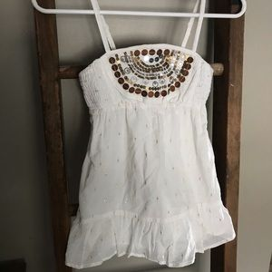 💜 3/$10 White with sequins top